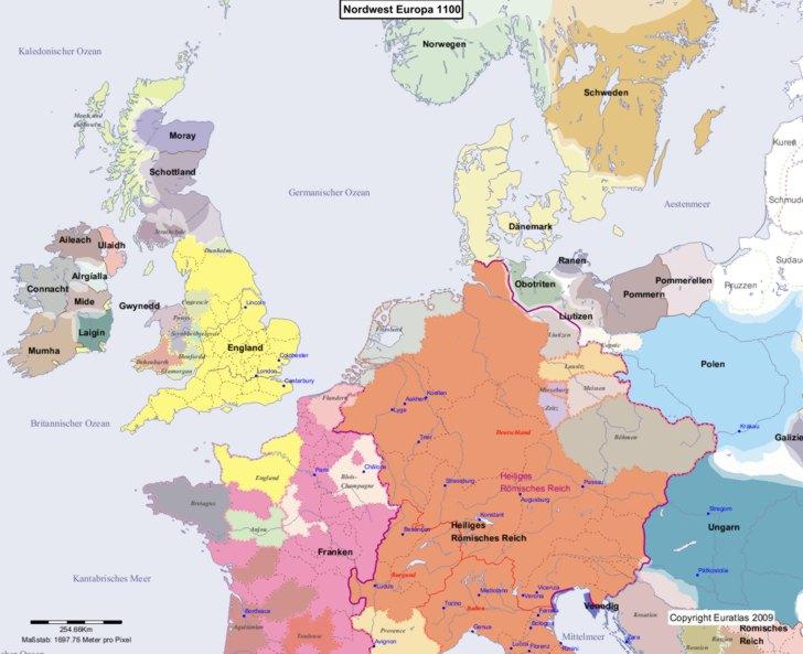 Karte von 1100 Nordwest