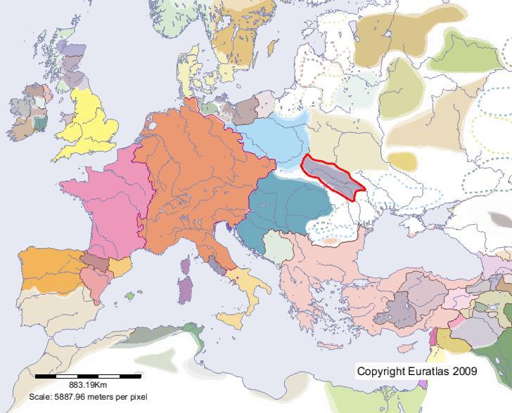 Galizien Karte.Euratlas Periodis Web Karte Von Galizien Im Jahre 1100