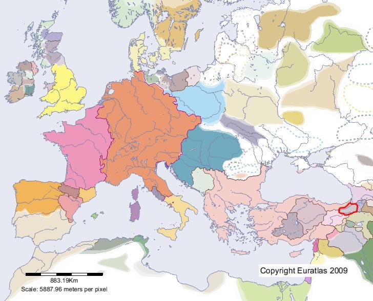 Euratlas Periodis Web Map of Erzurum in Year 1100