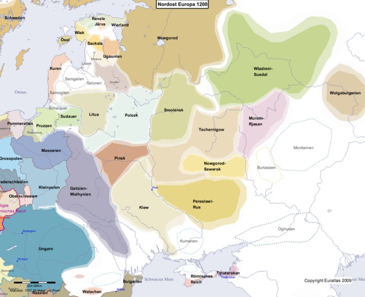 Karte von 1200 Nordost