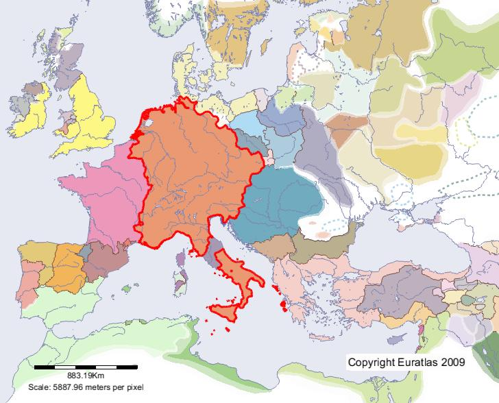 Holy Roman Empire Map 1000.Euratlas Periodis Web Map Of Holy Empire In Year 1200