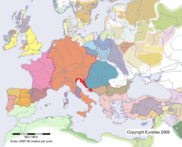 Carte Europe Venise.Euratlas Periodis Web Carte De Venise En L An 1200