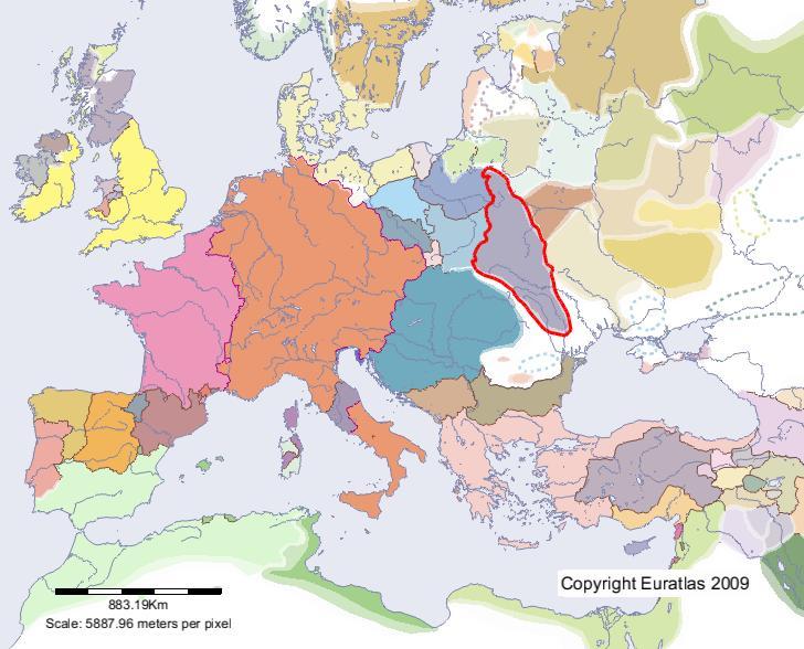 Euratlas Periodis Web Karte Von Galizien Wolhynien Im Jahre 1200