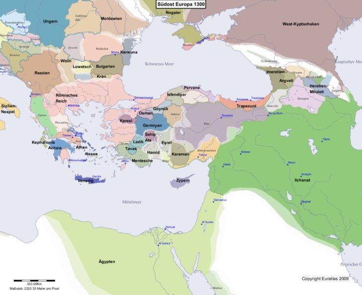 Karte von 1300 Sudost