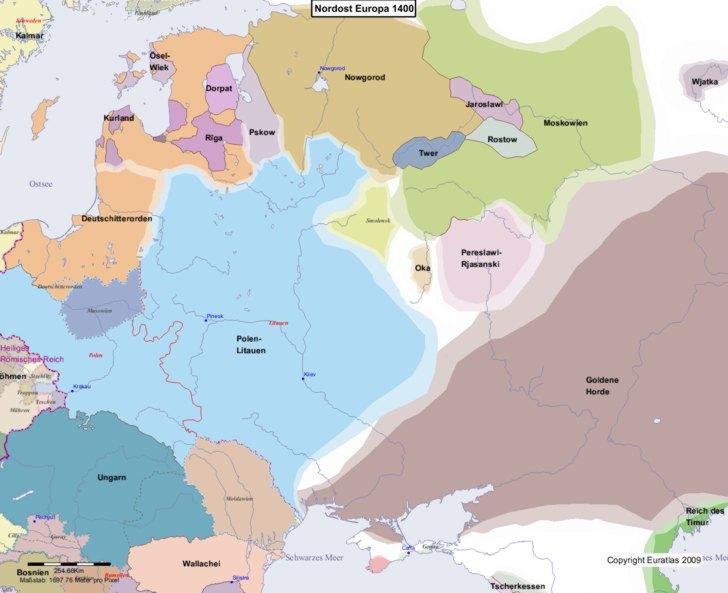 Karte von 1400 Nordost