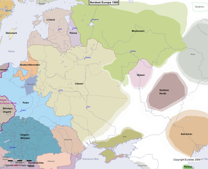 Karte von 1500 Nordost