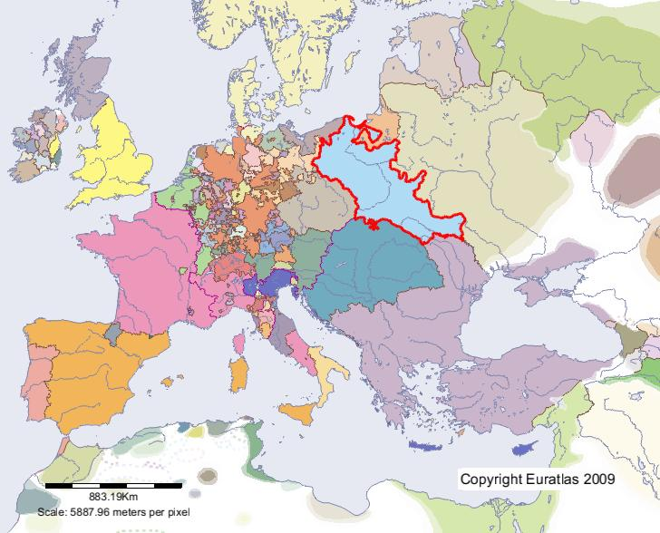 Euratlas Periodis Web - Map of Poland in Year 1500