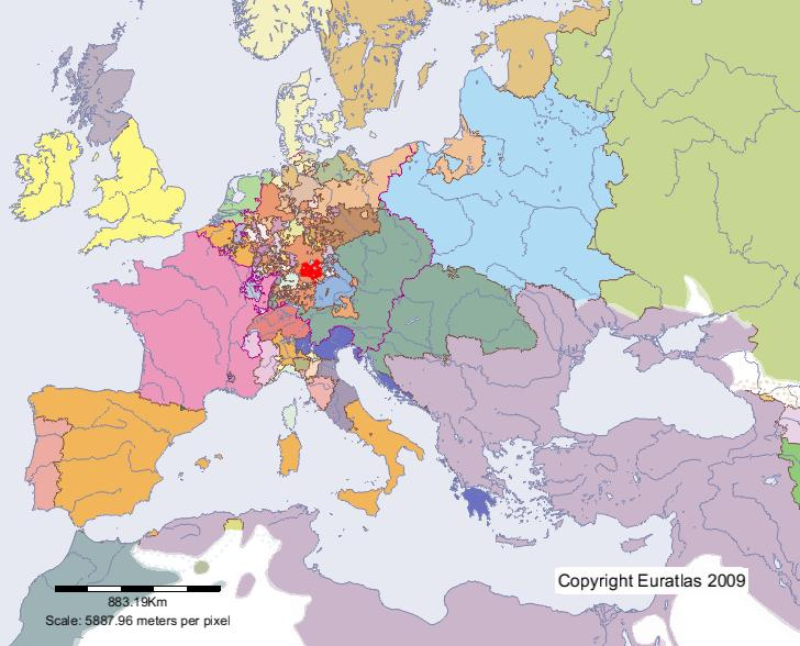 Euratlas Periodis Web Karte Von Brandenburg Ansbach Im Jahre 1700