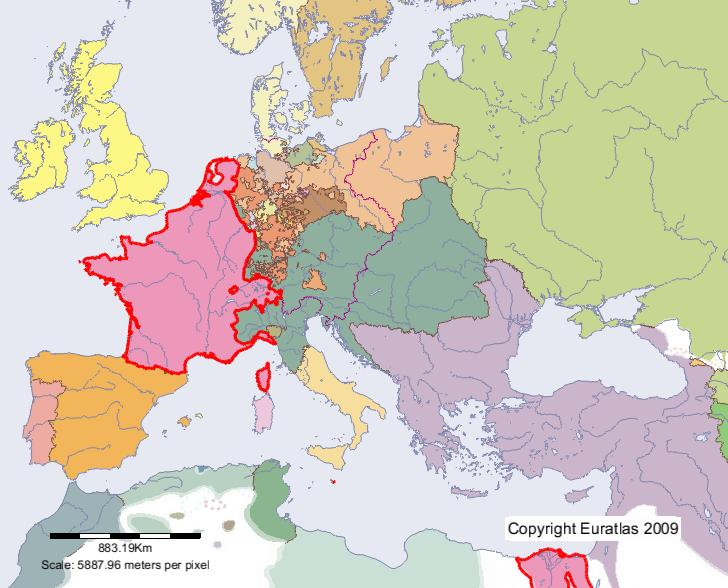 Euratlas periodis web map of france in year 1800 map of france in year 1800 gumiabroncs Images