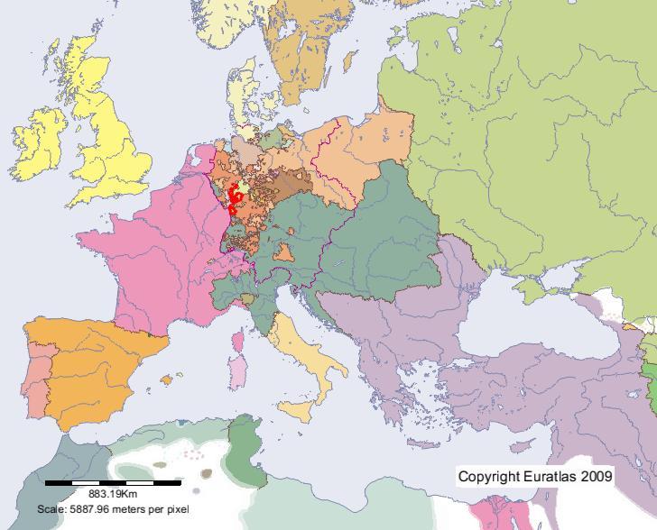 Euratlas Periodis Web Karte Von Hessen Darmstadt Im Jahre 1800