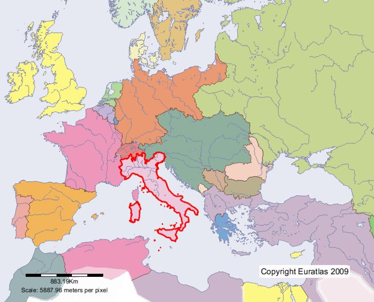 Euratlas Periodis Web Map Of Italy In Year 1900