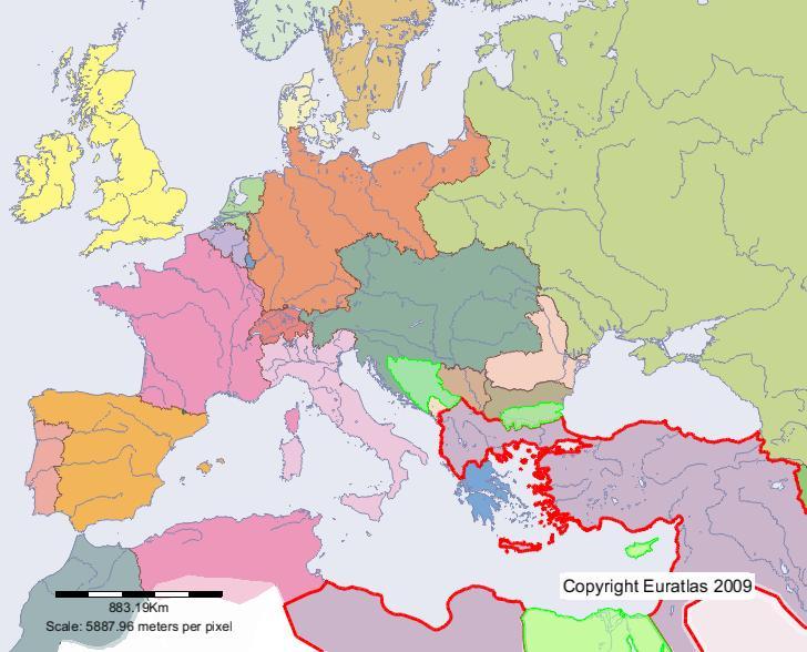Euratlas Periodis Web Karte Von Osmanisches Reich Im Jahre 1900