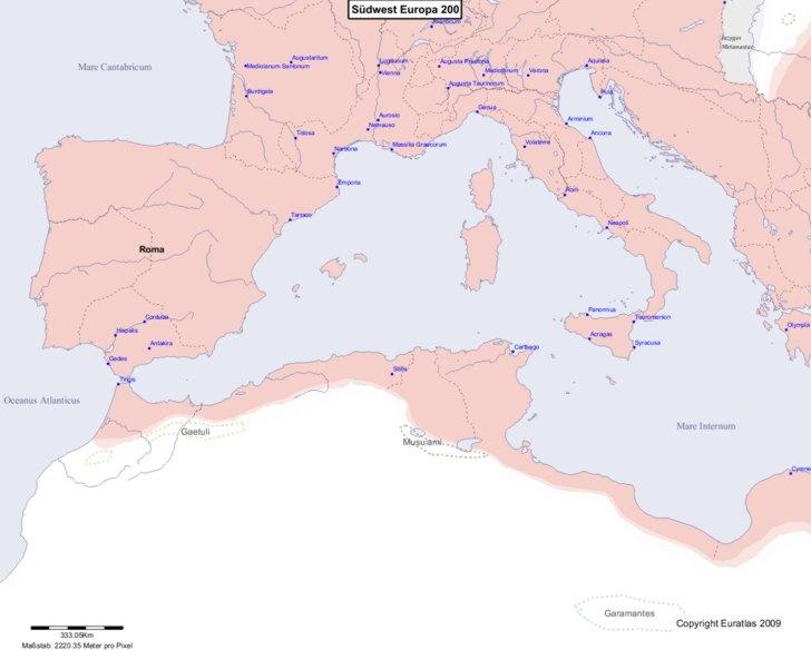 Karte von 200 Sudwest