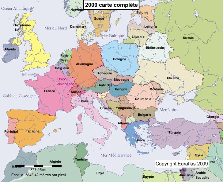 Carte Europe Lituanie.Euratlas Periodis Web Carte De L Europe En 2000