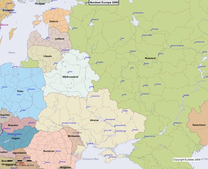 Karte von 2000 Nordost