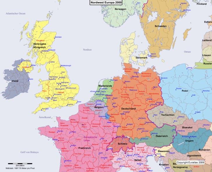 Karte von 2000 Nordwest