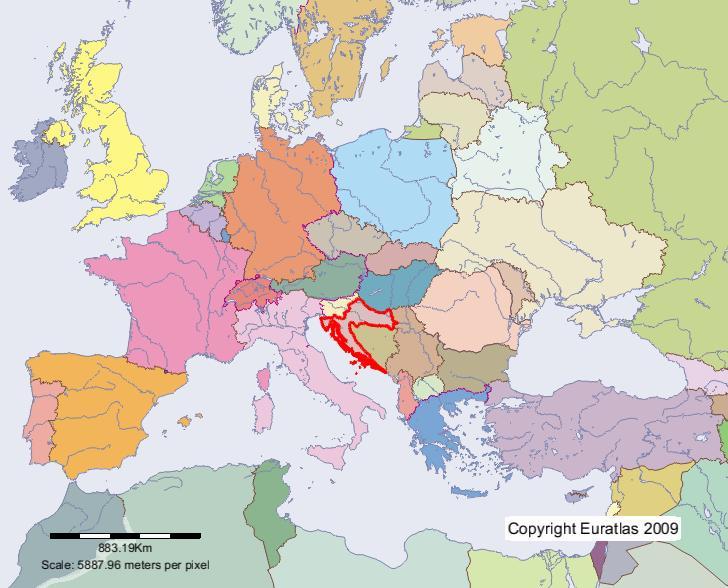 croatie carte europe
