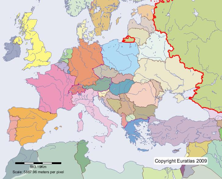 Euratlas Periodis Web - Map of Russia in Year 2000