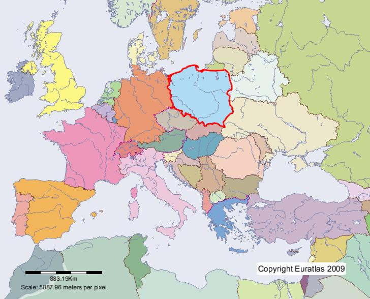 Carte pologne europe