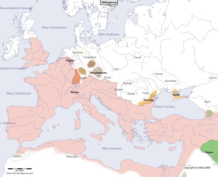 map of europe 300 ad Euratlas Periodis Web   Map of Europe in Year 300