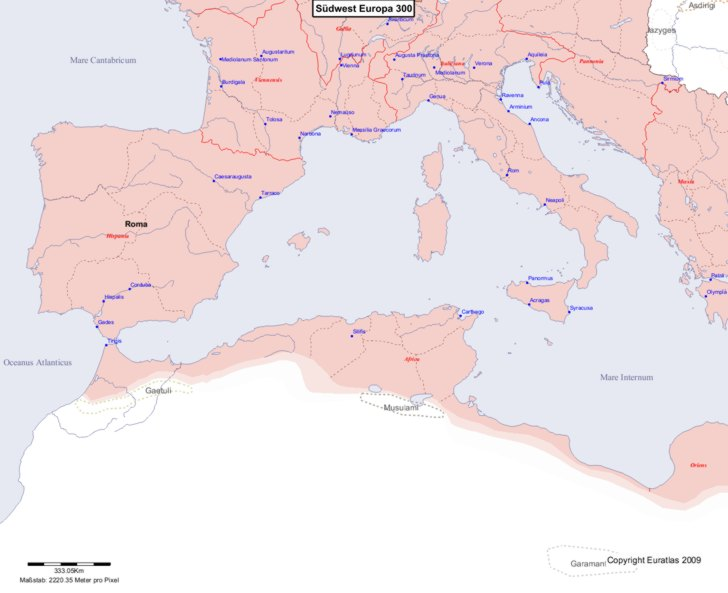 Karte von 300 Sudwest
