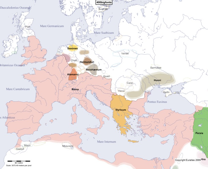 map of europe 400 ad Euratlas Periodis Web   Map of Europe in Year 400