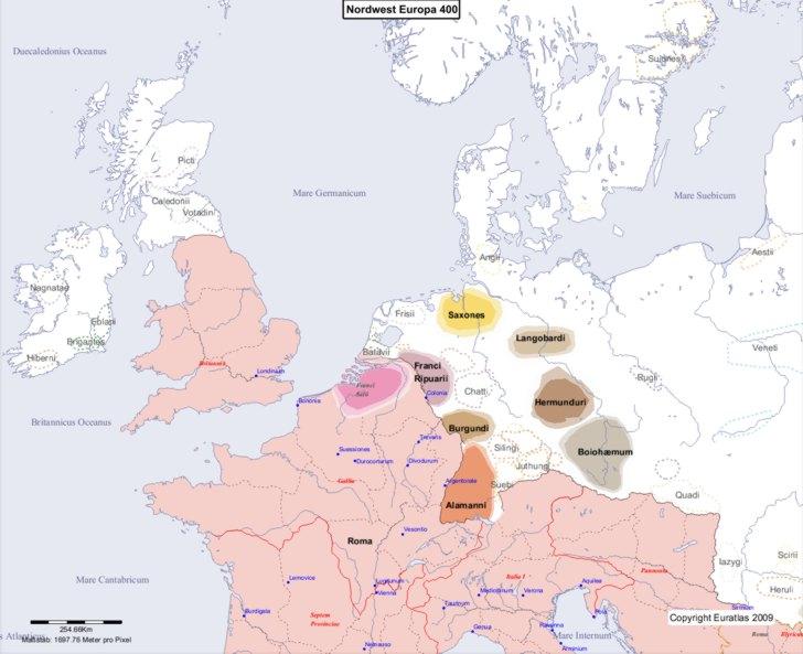 Karte von 400 Nordwest