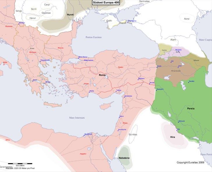 Karte von 400 Sudost