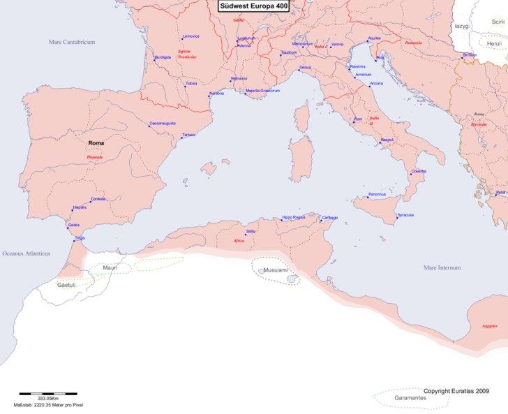 Karte von 400 Sudwest