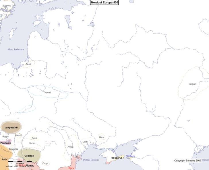 Karte von 500 Nordost
