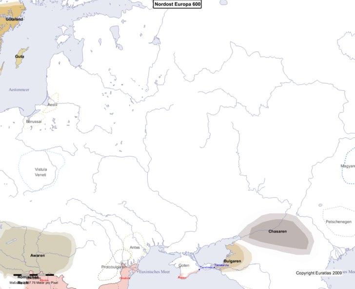 Karte von 600 Nordost