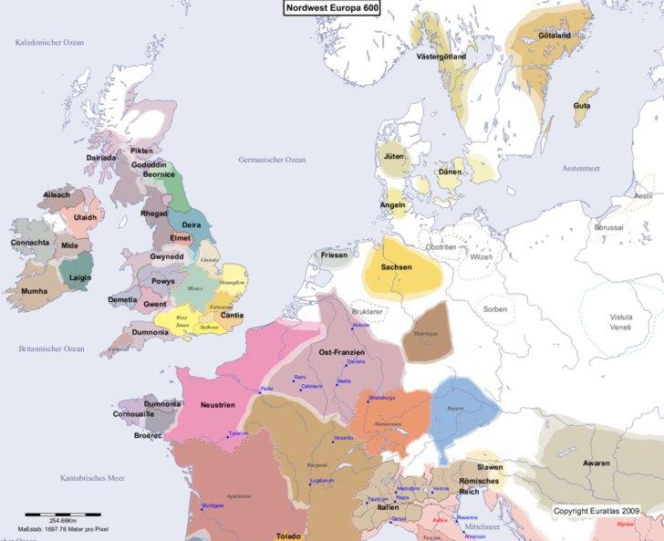 Karte von 600 Nordwest