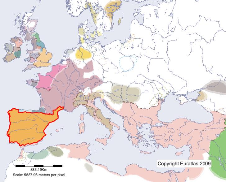 Euratlas Periodis Web Map Of Toledo In Year 600