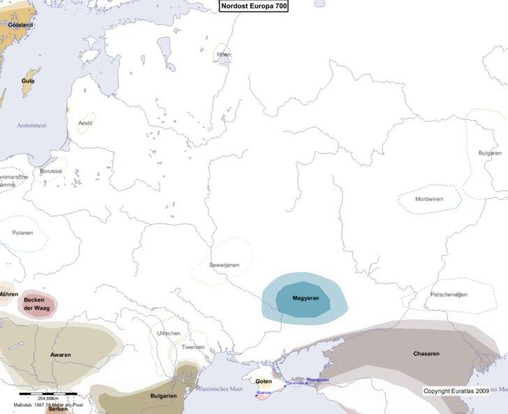 Karte von 700 Nordost