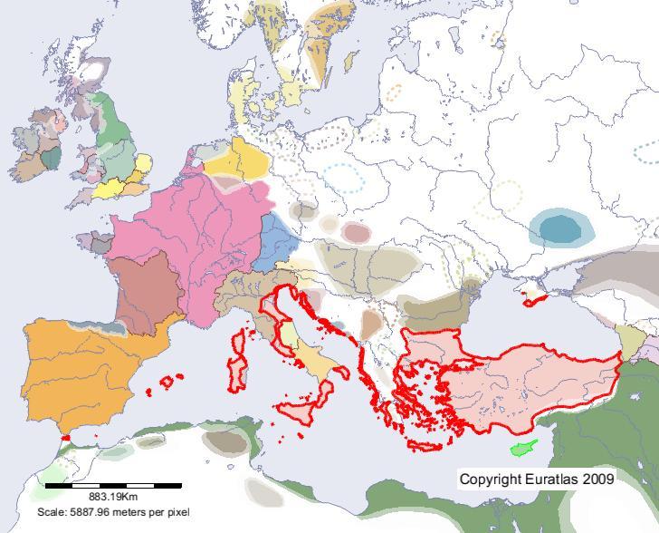Römisches Reich Karte.Euratlas Periodis Web Karte Von Römisches Reich Im Jahre 700
