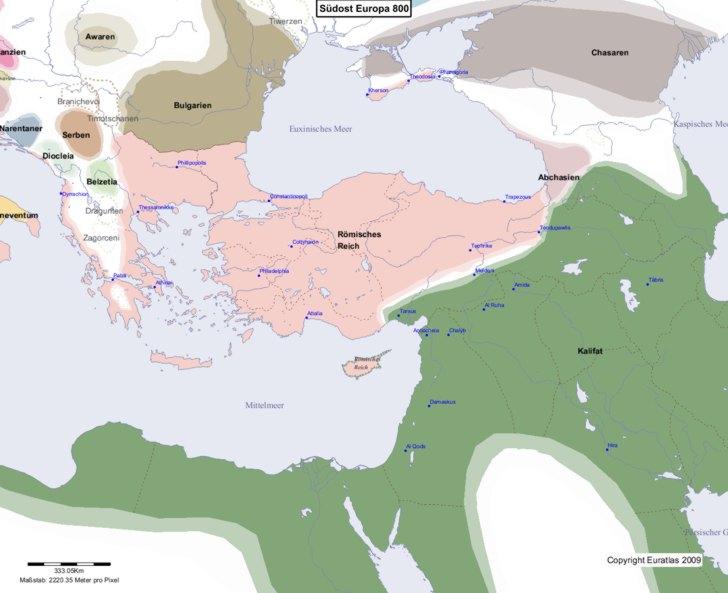 Karte von 800 Sudost