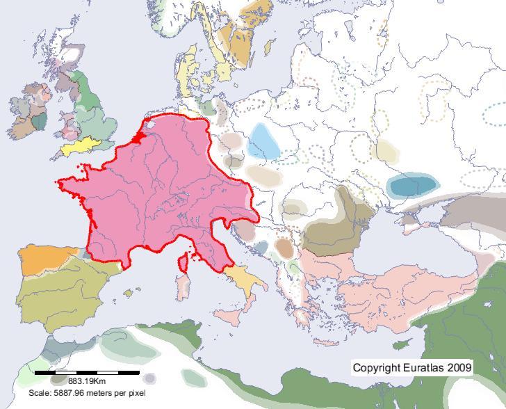 Euratlas Periodis Web Map Of Francia In Year 800