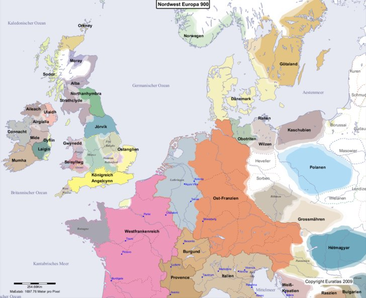 Karte von 900 Nordwest