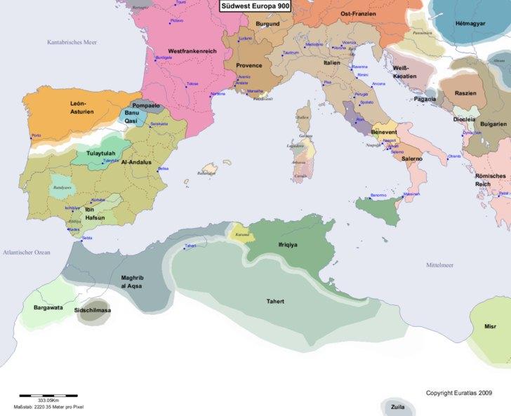 Karte von 900 Sudwest