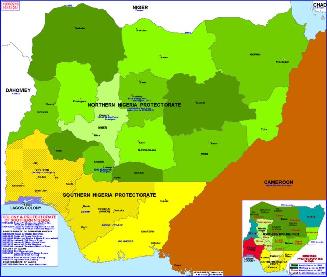 Hisatlas - Map of Nigeria 1913