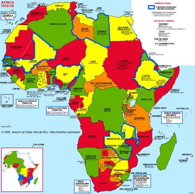 Hisatlas   Map of Africa 1959