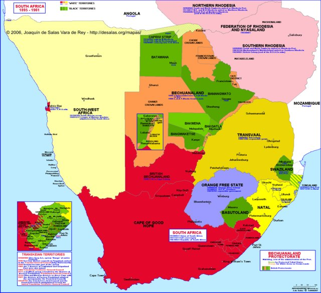 Hisatlas   Map of South Africa 1961