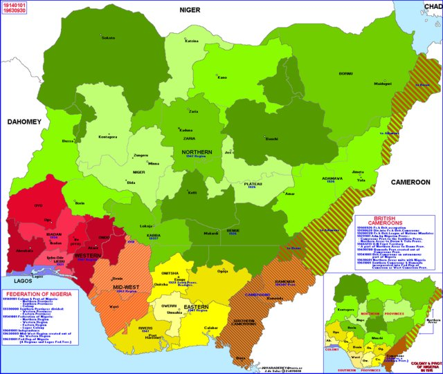 Hisatlas map of nigeria 1963 gumiabroncs Image collections