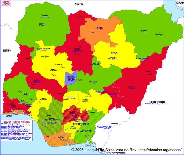 Hisatlas - Map of Nigeria 1976