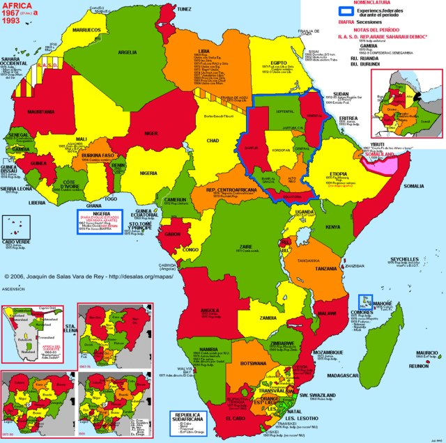 Hisatlas Map Of Africa 1993