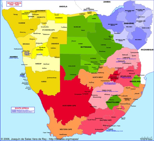 Hisatlas   Map of South Africa 2003