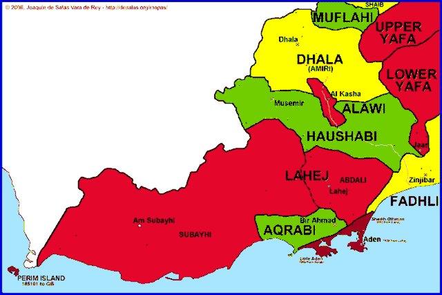 Hisatlas Map of Protectorate of Aden 18391967