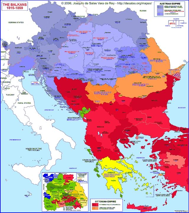 Hisatlas - Map of Balkan Peninsula 1815-1859