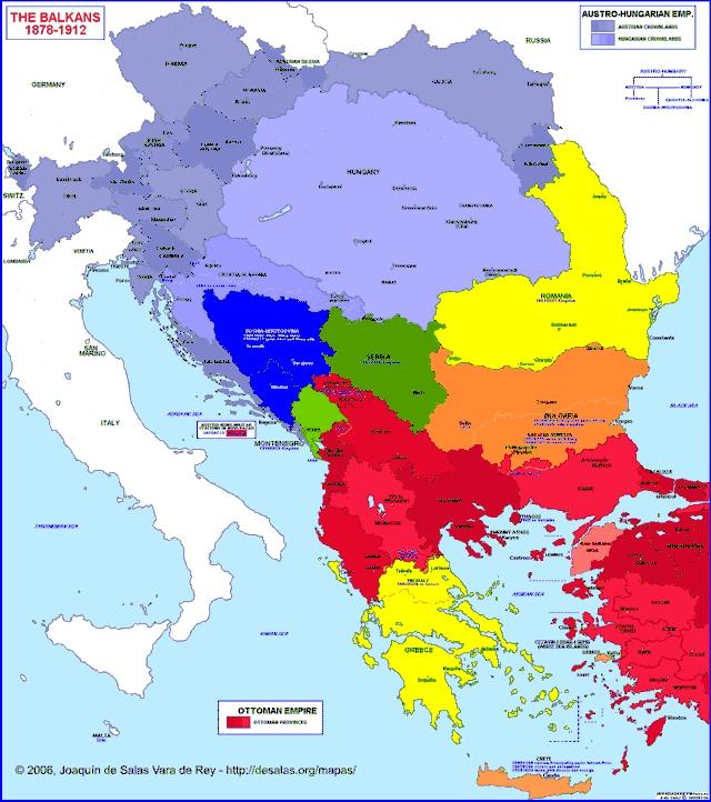 Hisatlas - Map of Balkan Peninsula 1878-1912