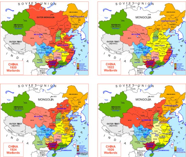 Hisatlas - Map of China 1920-1926